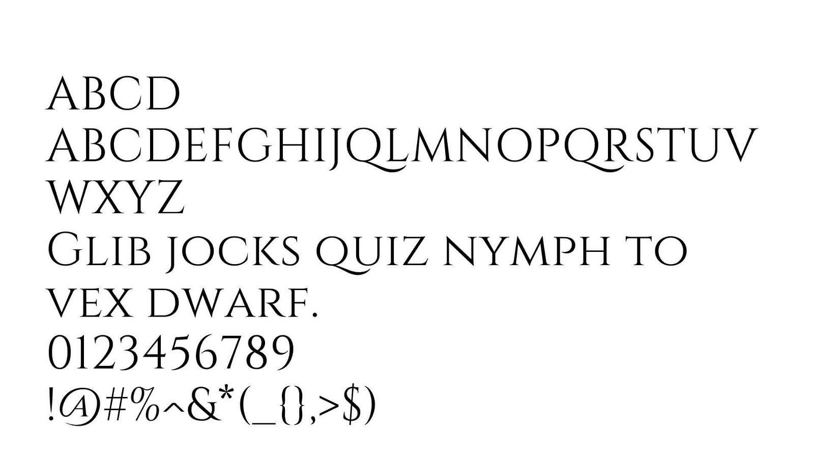Cinzel Font View - Cinzel Font Free Download