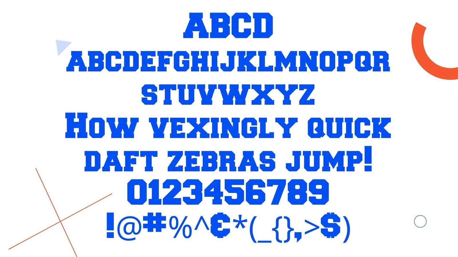 Collegiate Font View - Collegiate Font Free Download