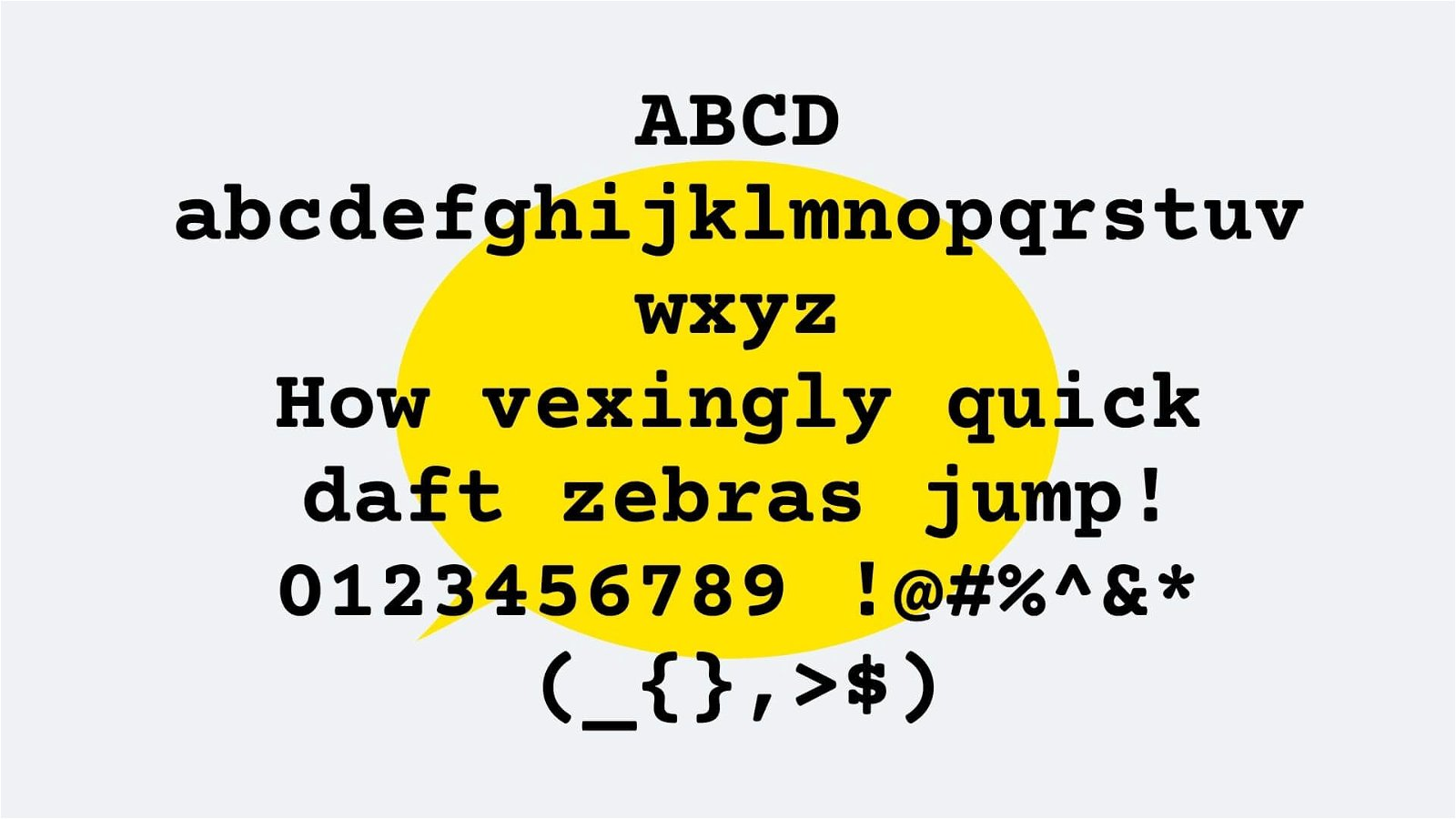 Courier Font View