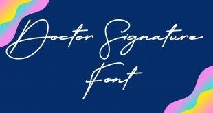 Doctor Signature Font