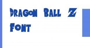 Dragon ball Z Font