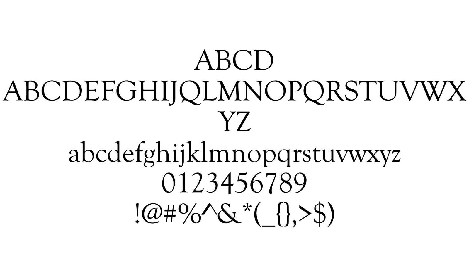 Goudy Old Style Font View
