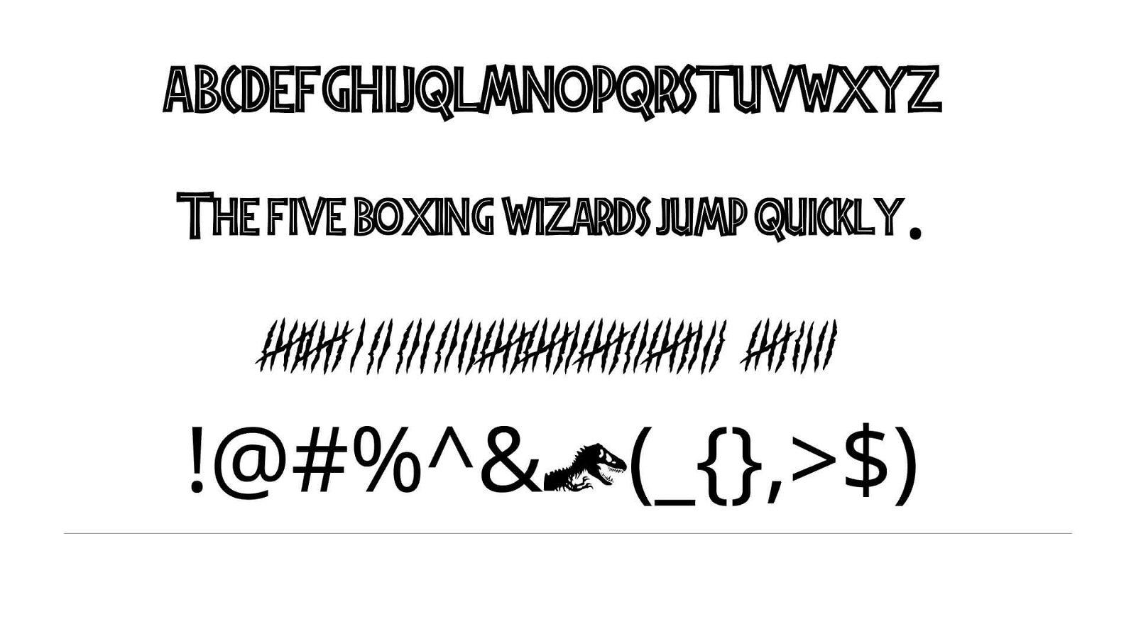 Jurassic Park Font View