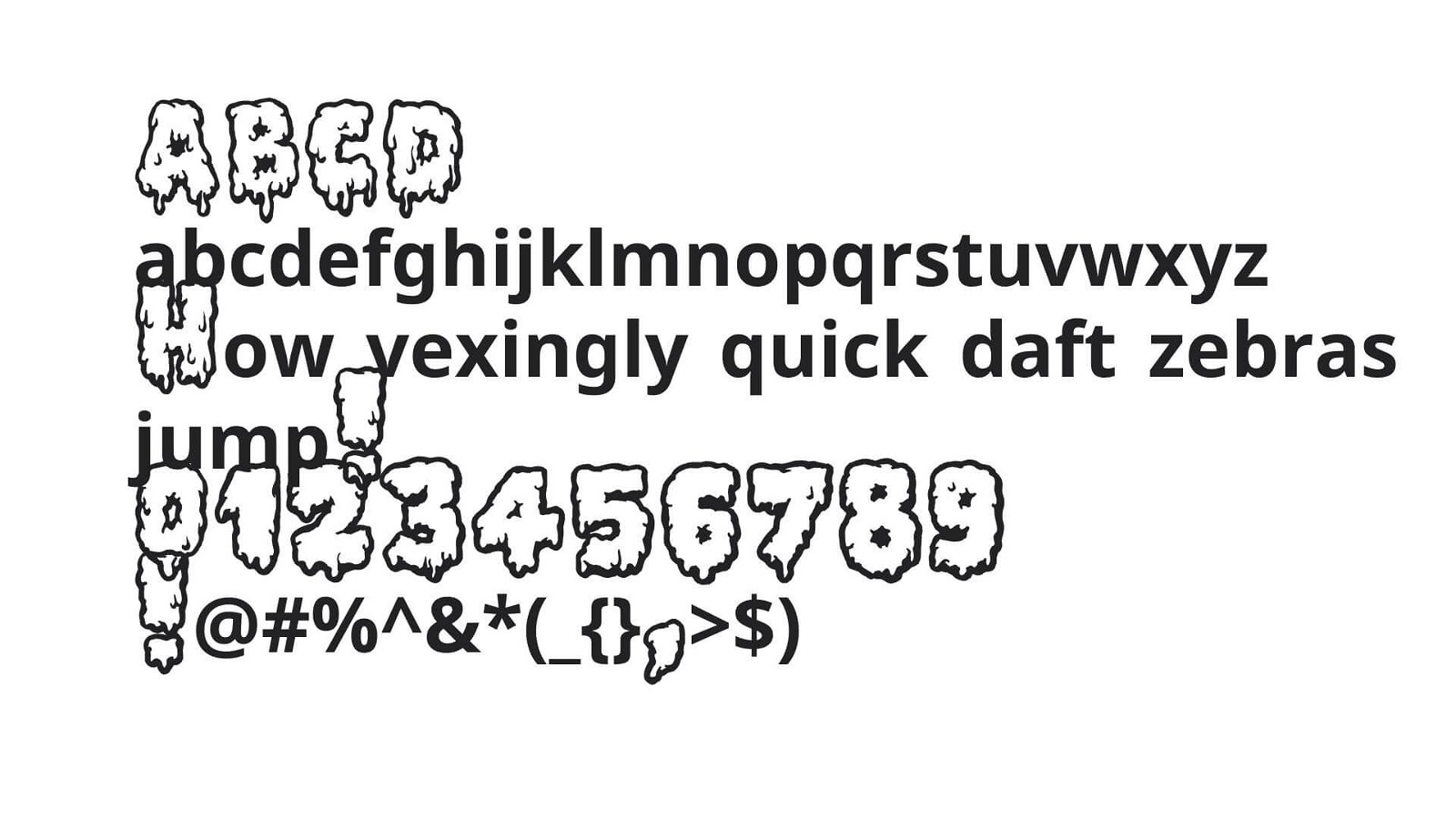 Lethal Slime Font View