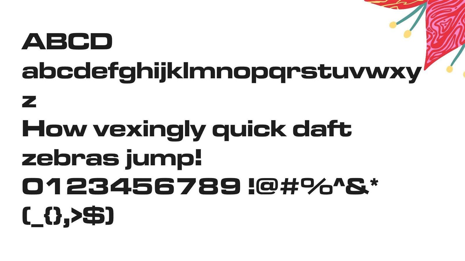 Microgamma Font View