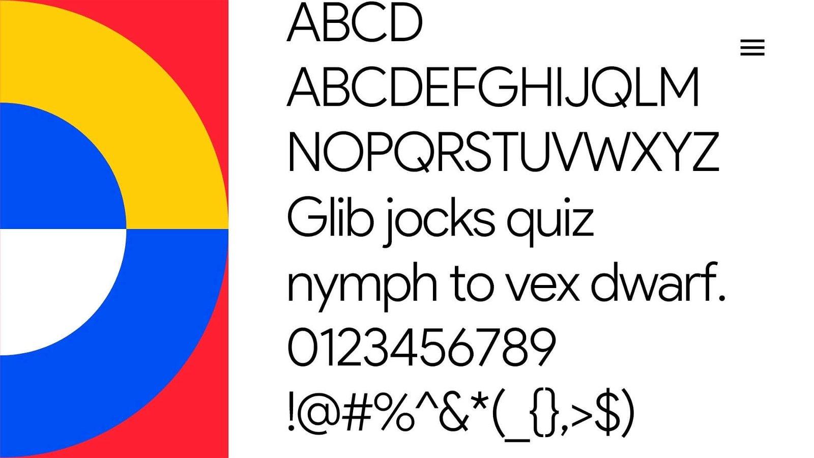 Product Sans Font View