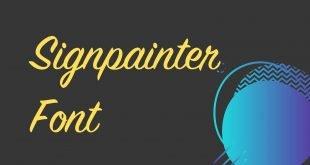 Signpainter Font