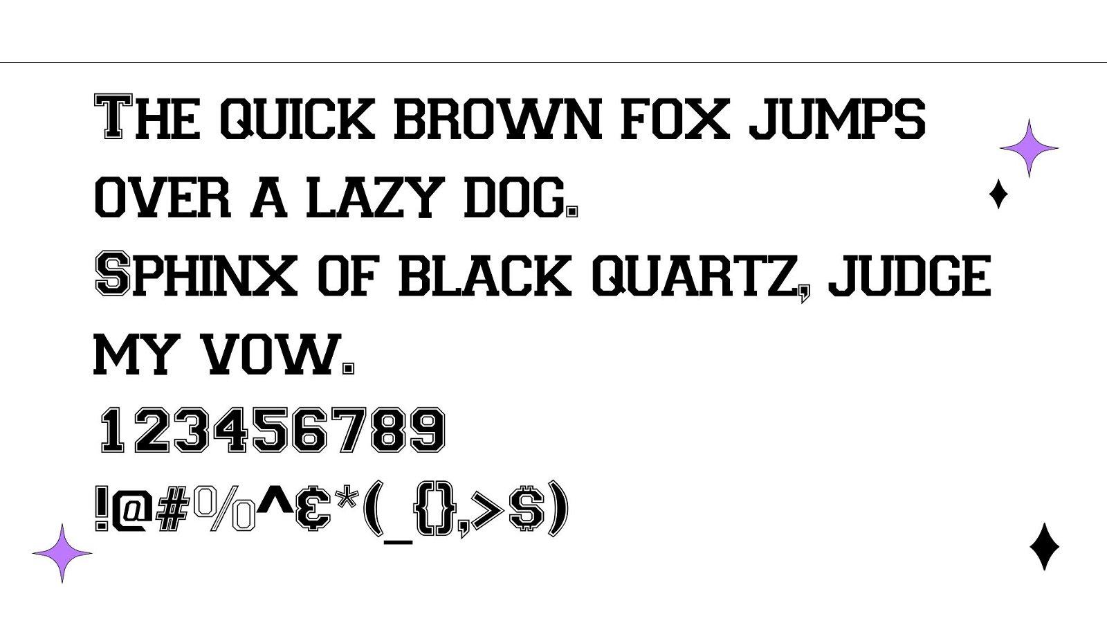 Varsity Font View 1 - Varsity Font Free Download