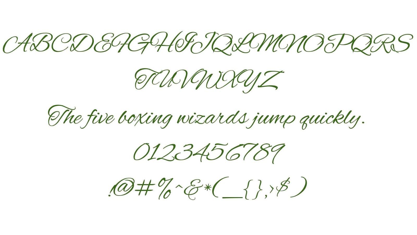 Alex Brush Font View