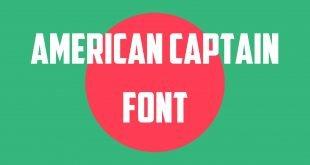 American Captain Font 310x165 - American Captain Font Free Download