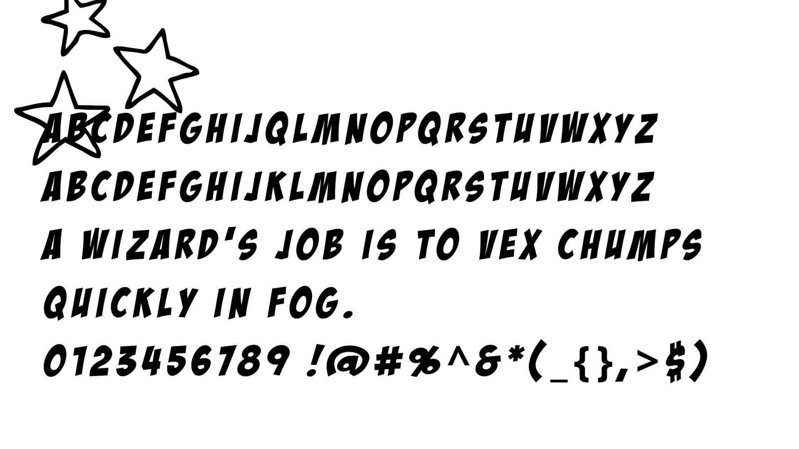 Badaboom Font