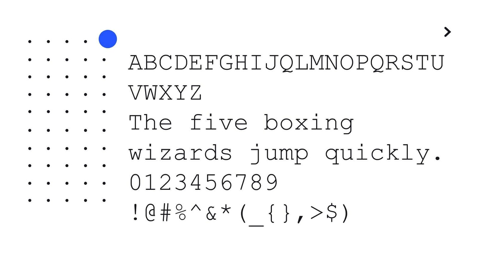 Courier New Font View