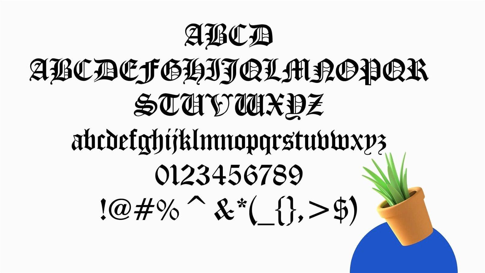 Diploma Font view