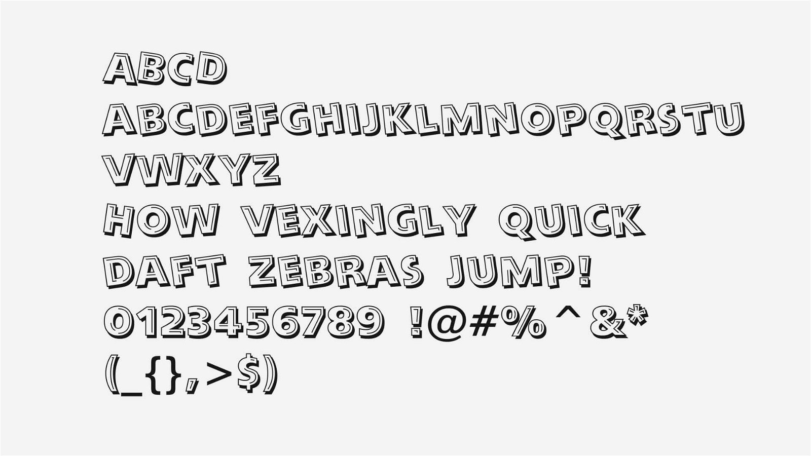 Looney Tunes Font View