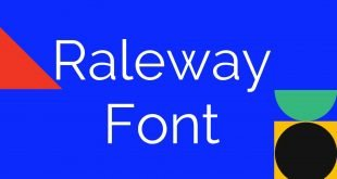 Raleway Font 310x165 - Raleway Font Family Free Download
