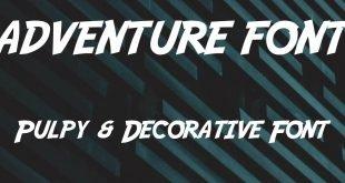 ADVENTURE FONT 310x165 - Adventure Font Free Download