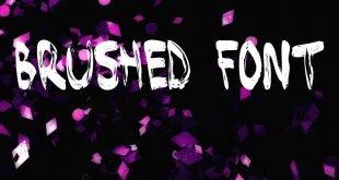 BRUSHED FONT 310x165 - Brushed Font Free Download