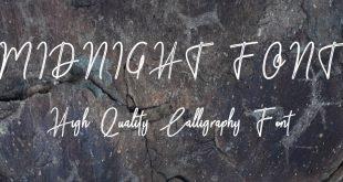 MIDNIGHT FONT 310x165 - Midnight Font Free Download