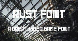 RUST FONT 310x165 - Rust Font Free Download