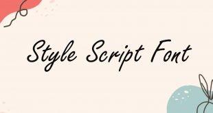 Style Script Font 310x165 - Style Script Font Free Download